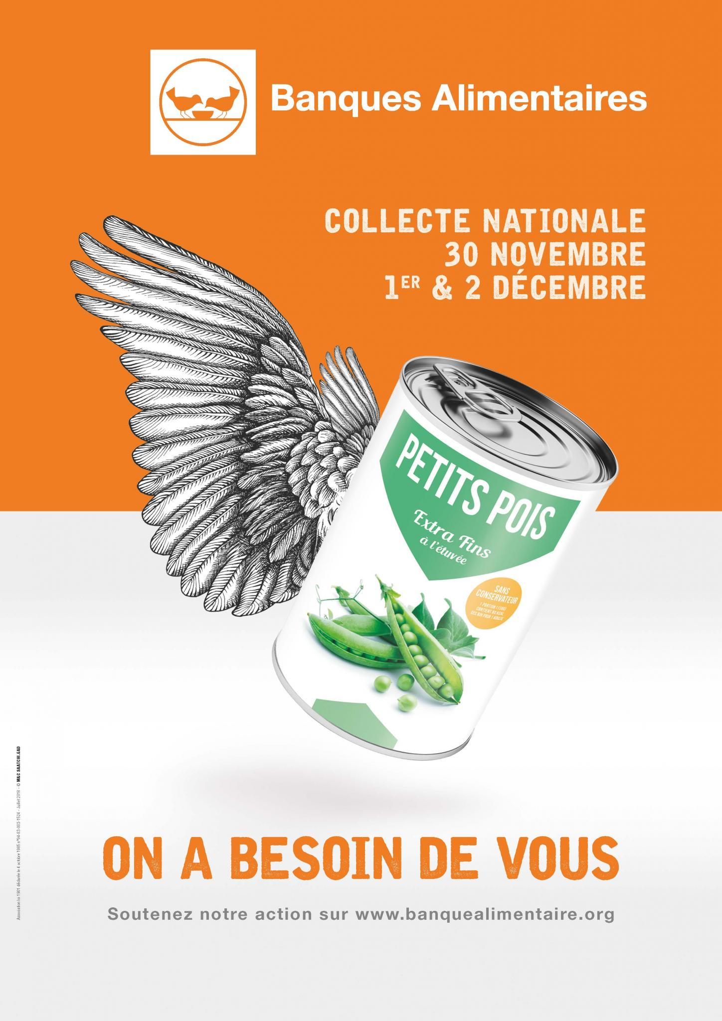affiche collecte nationale 2018 banques alimentaires